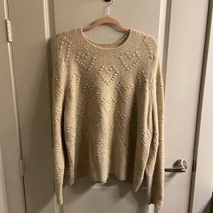 H&M heart sweater XL